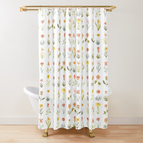 Wildflowers Pattern Shower Curtain