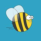 Cool & Crazy Funny Bee / Bumble Bee (Sweet & Cute) by badbugs