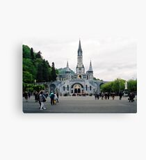 Our Lady Of Lourdes Basilica Of The Rosary. France. Canvas Print