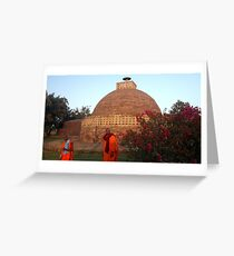 Monks at Sanchi Greeting Card