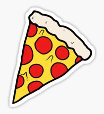 Cool and Trendy Pizza Pattern in Super Acid green / turquoise / blue Sticker