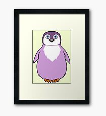 Light Purple Baby Penguin Framed Print