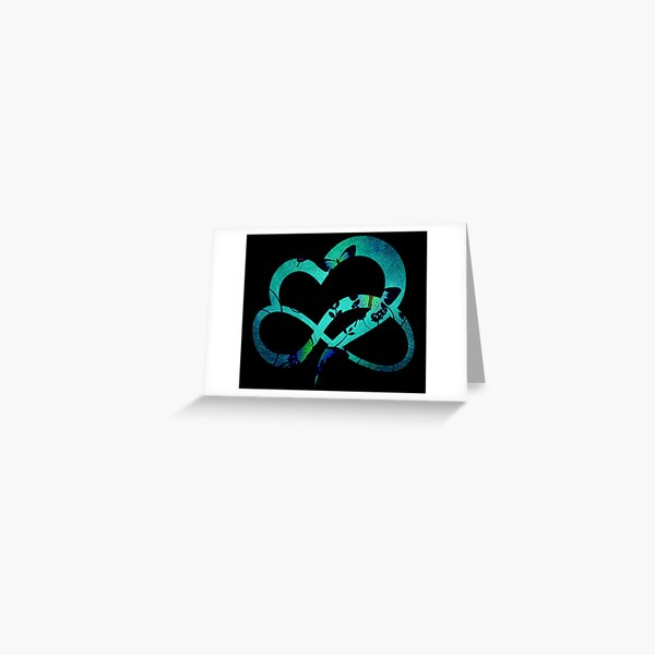 Butterfly heart background pattern Greeting Card