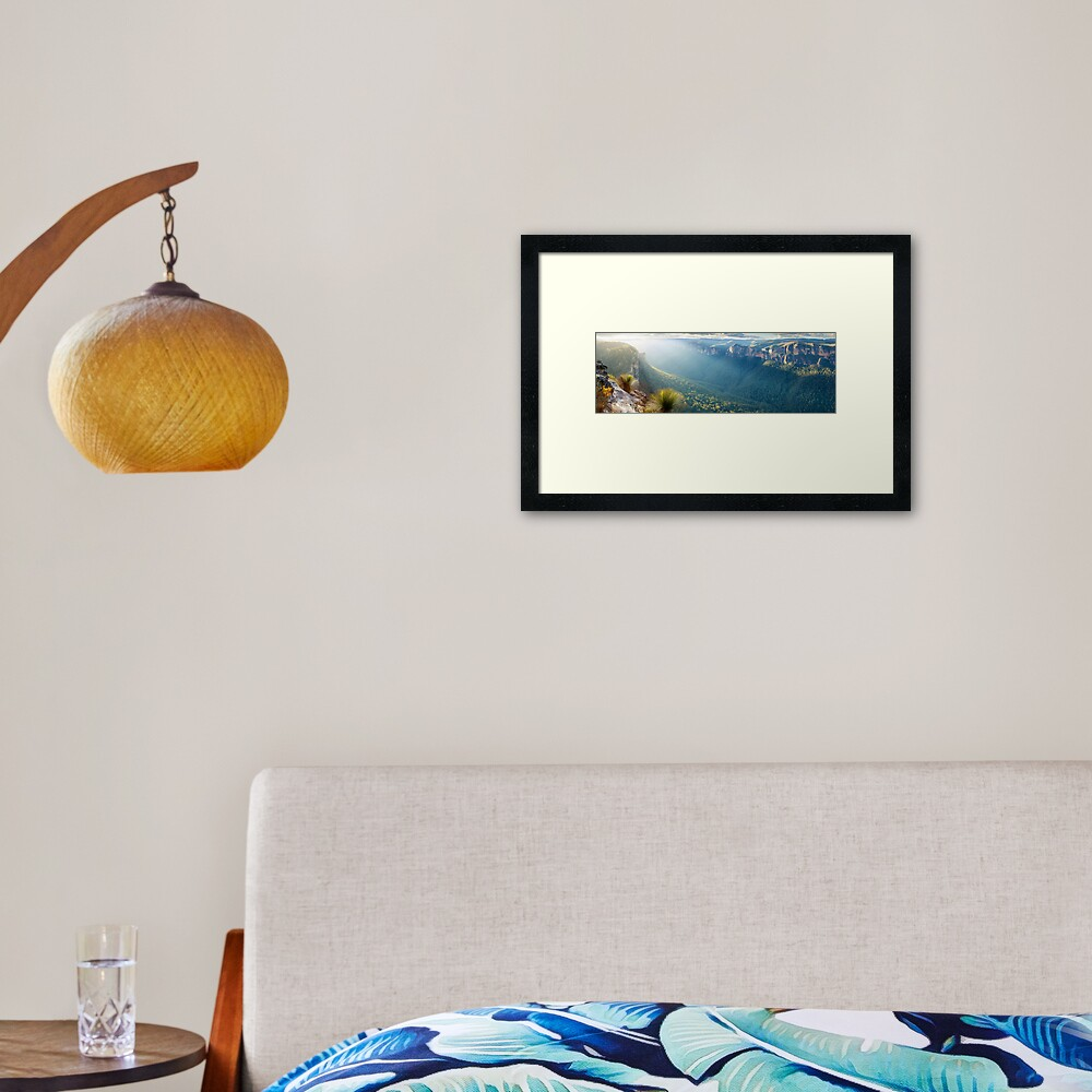 Perrys Lookdown, Blue Mountains, New South Wales, Australia Framed Art Print
