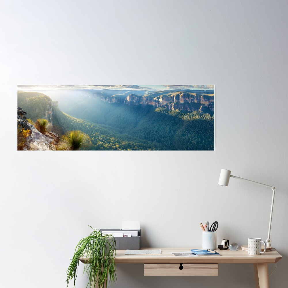 Perrys Lookdown, Blue Mountains, New South Wales, Australia Poster
