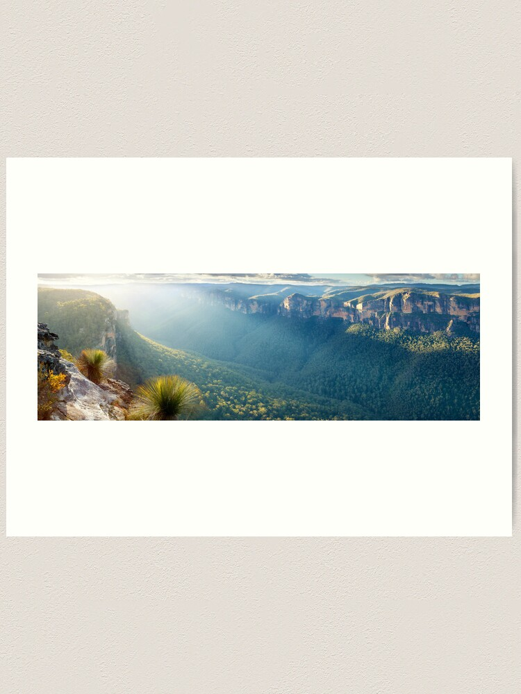 Alternate view of Perrys Lookdown, Blue Mountains, New South Wales, Australia Art Print