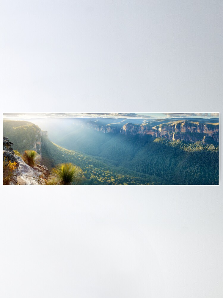 Alternate view of Perrys Lookdown, Blue Mountains, New South Wales, Australia Poster