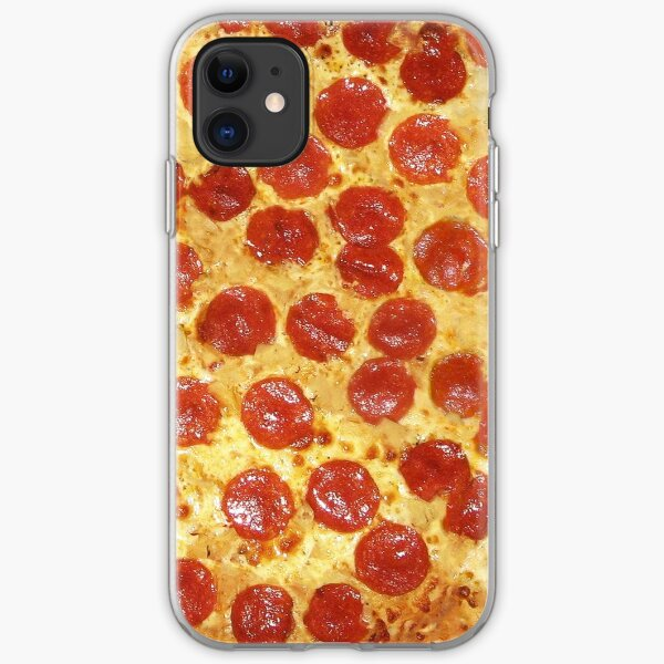 Delicious Pepperoni / Salami Pizza - Pattern with extra cheese iPhone Soft Case