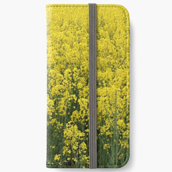 Beautiful shining rapeseed iPhone Wallet