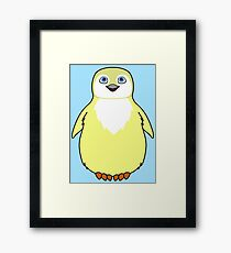 Light Yellow Baby Penguin Framed Print