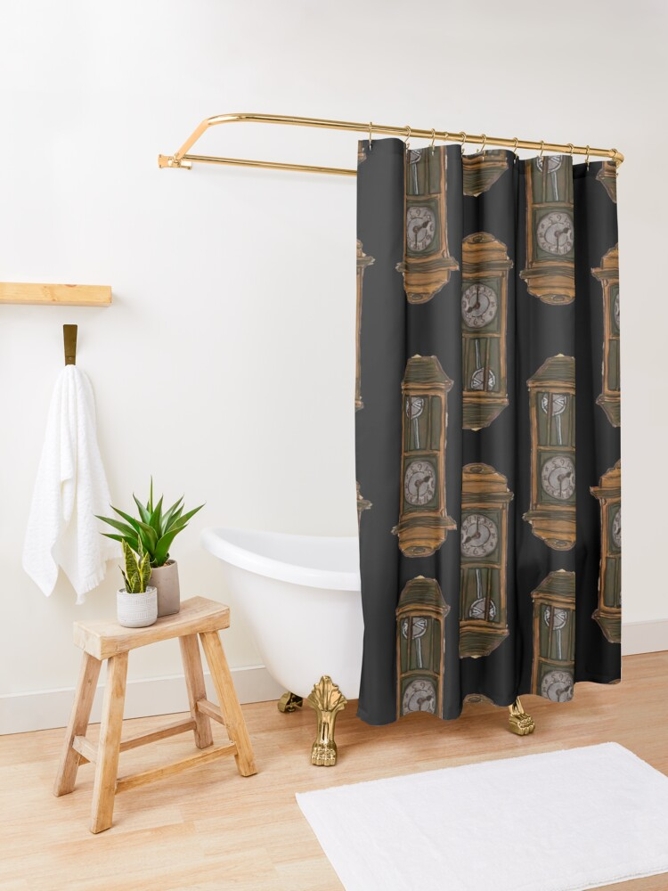 Alternate view of The old Times never come back Shower Curtain