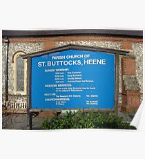 Saint Buttocks church Poster
