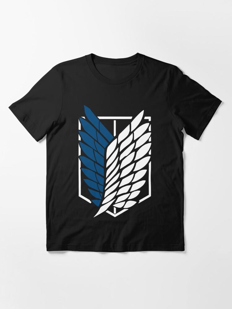 Alternate view of Dark Fantasy Anime Attack on Titan The Scouting Legion Design Essential T-Shirt