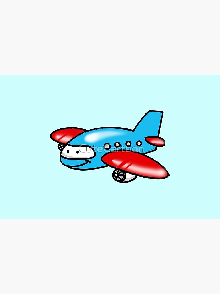 Funny Blue Airplane Cartoon Laptop Skin By Cutecartoon Redbubble