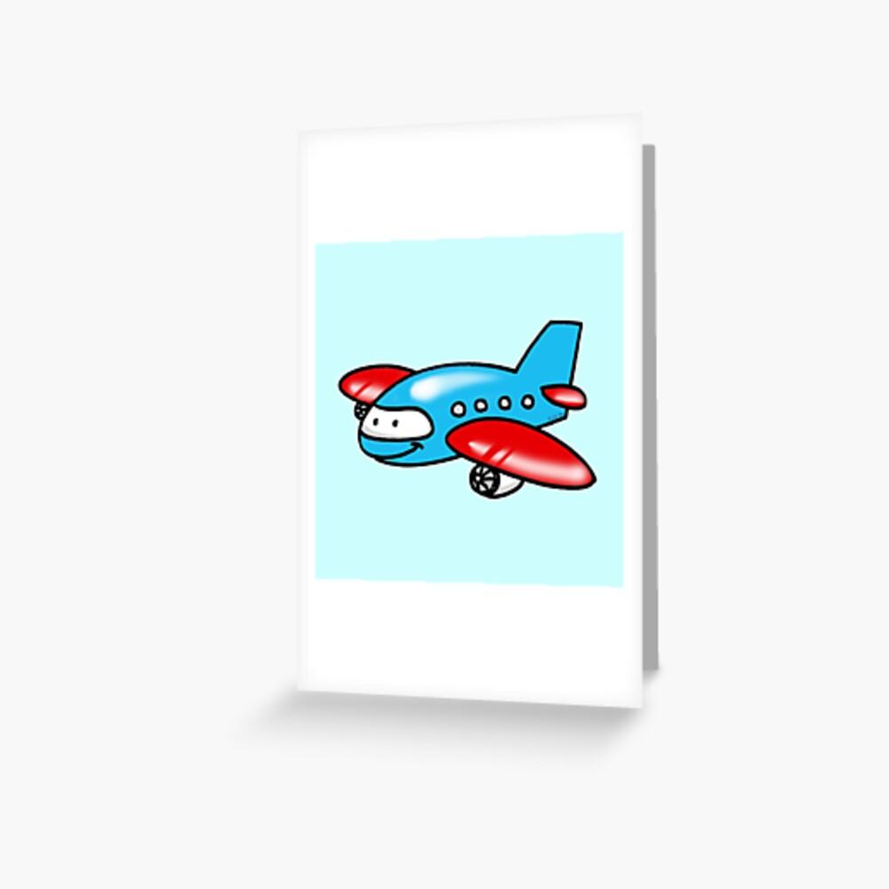 Funny Blue Airplane Cartoon Art Print By Cutecartoon Redbubble