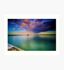 Incoming Storm- Merewether Ocean Baths #2 Art Print