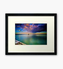 Incoming Storm- Merewether Ocean Baths #2 Framed Print