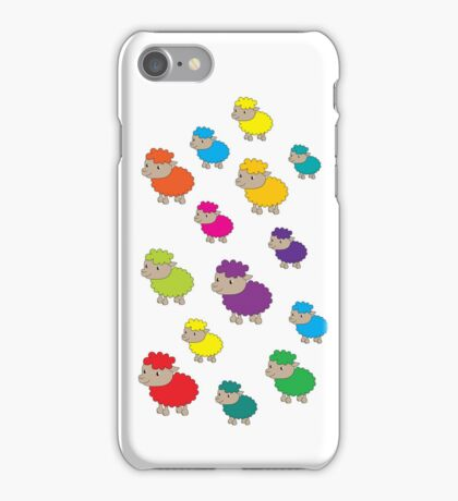 Colourful sheep iPhone Case/Skin
