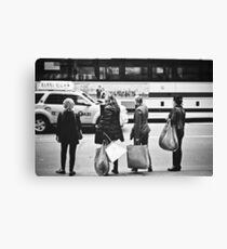Here is Shopaholic in NYC Canvas Print
