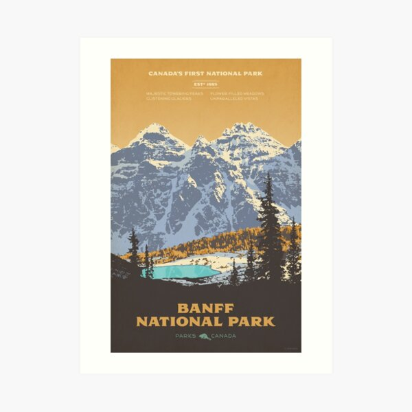 Banff National Park poster Art Print