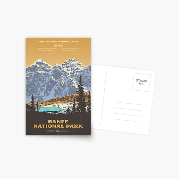 Banff National Park poster Postcard