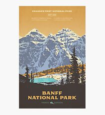 Banff-Nationalparkplakat Fotodruck