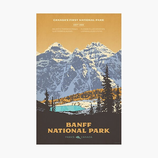 Banff National Park poster Photographic Print
