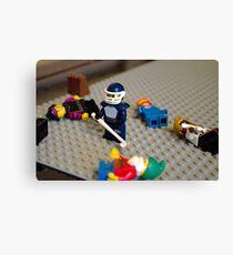 Lego Hockey Player Canvas Print