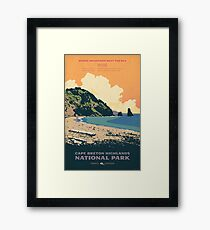 Cape Breton Highlands National Park poster Framed Print