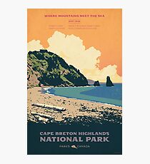 Cape Breton Highlands National Park poster Photographic Print