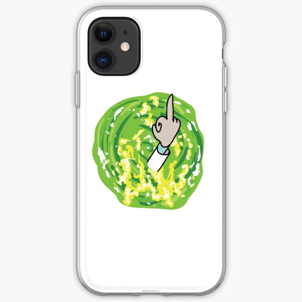 Rick Middle Finger iPhone Soft Case