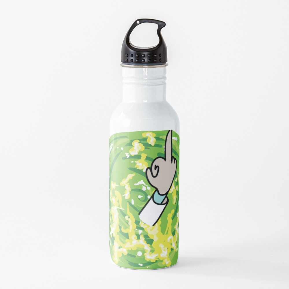 Rick Middle Finger Water Bottle