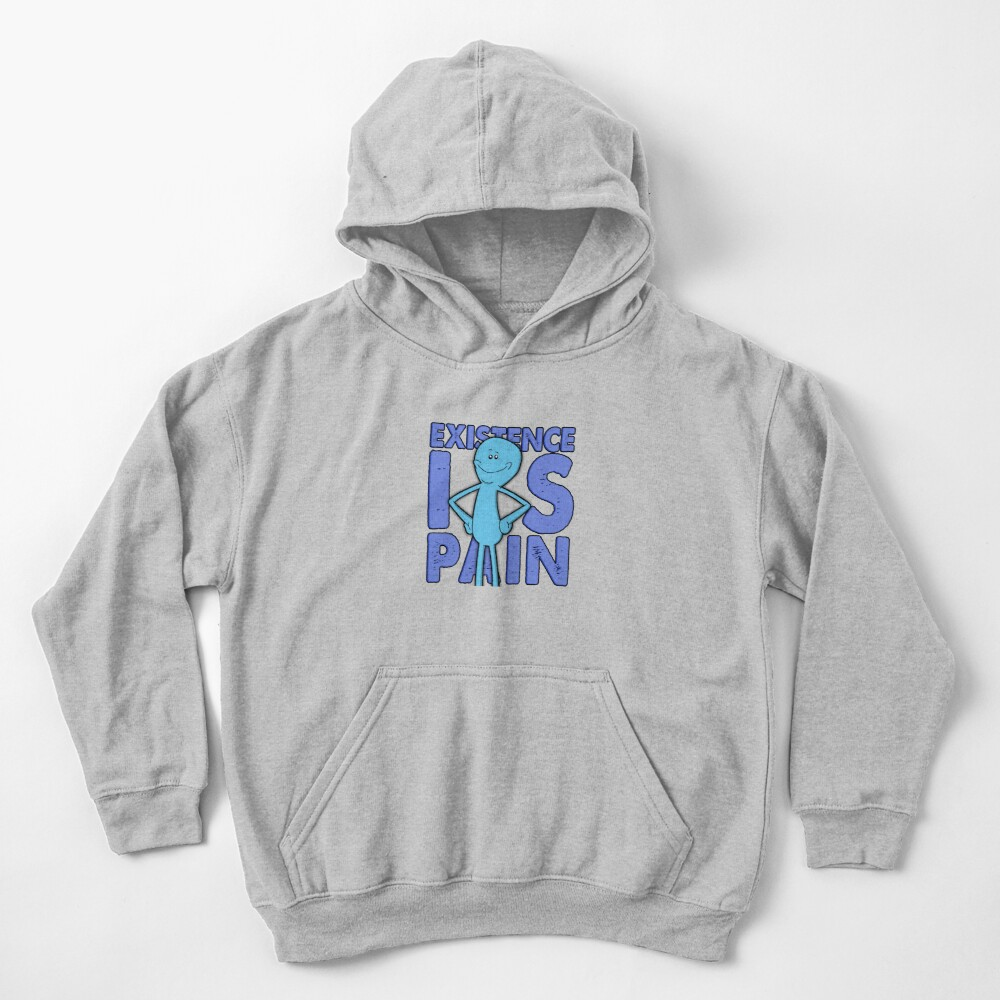 Existence Is Pain - Mr Meeseeks Kids Pullover Hoodie