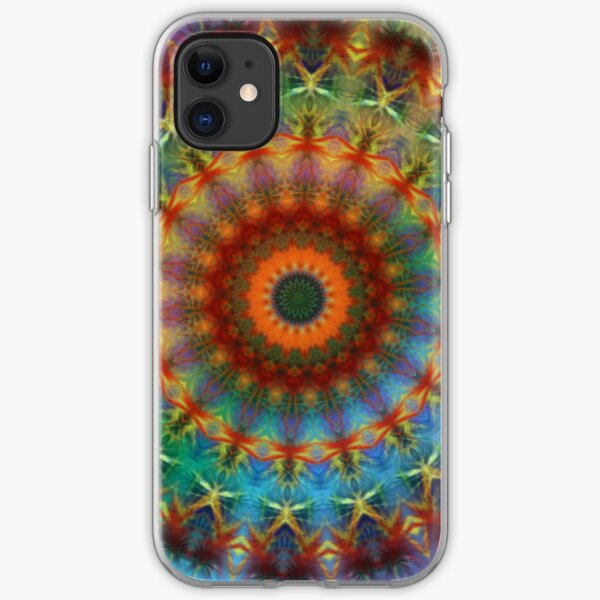 Orange Earth Rainbow mandala iPhone case iPhone Soft Case
