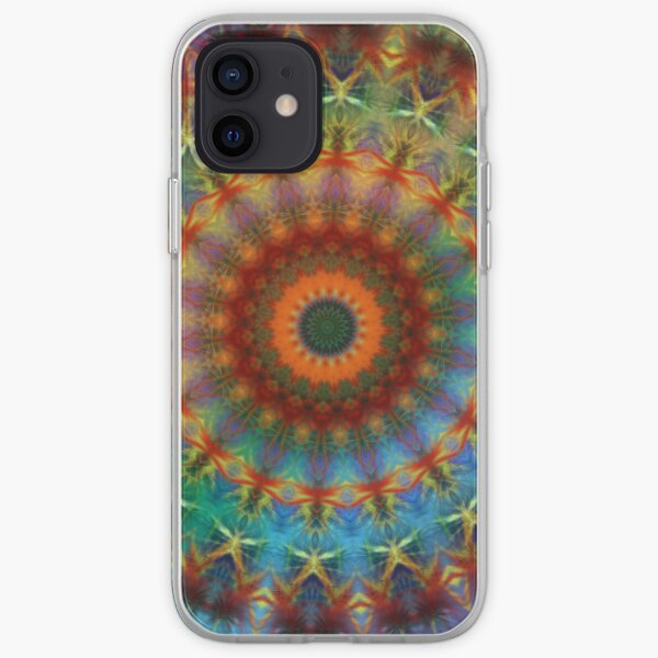 Orange Earth Rainbow mandala iPhone case iPhone Soft Case