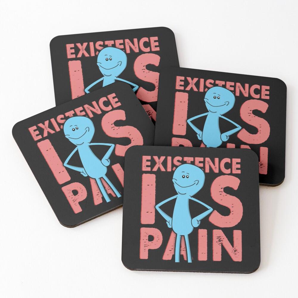 Existence Is Pain - Mr Meeseeks Coasters (Set of 4)