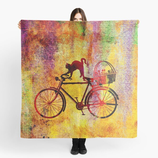 Cat and Bicycle Scarf