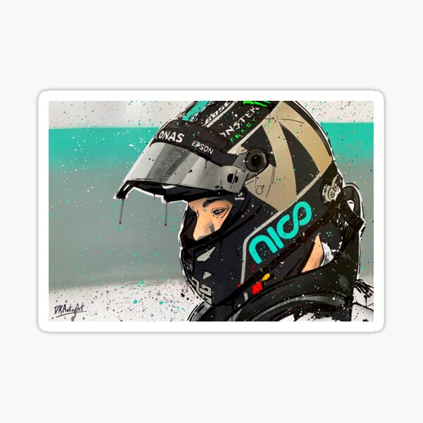 Nico Rosberg F1 graffiti painting by DRAutoArt Sticker