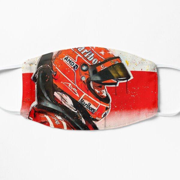 Michael Schumacher - pintura de graffiti de Ferrari F1 por DRAutoArt Mascarilla plana