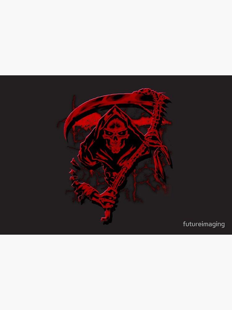 Dark Red Grim Reaper Mask by futureimaging