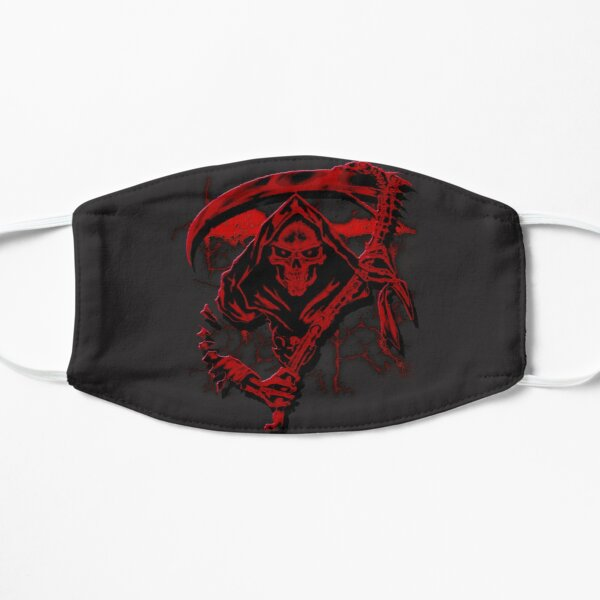 Dark Red Grim Reaper Mask Mask