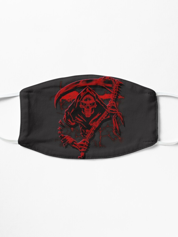 Alternate view of Dark Red Grim Reaper Mask Mask