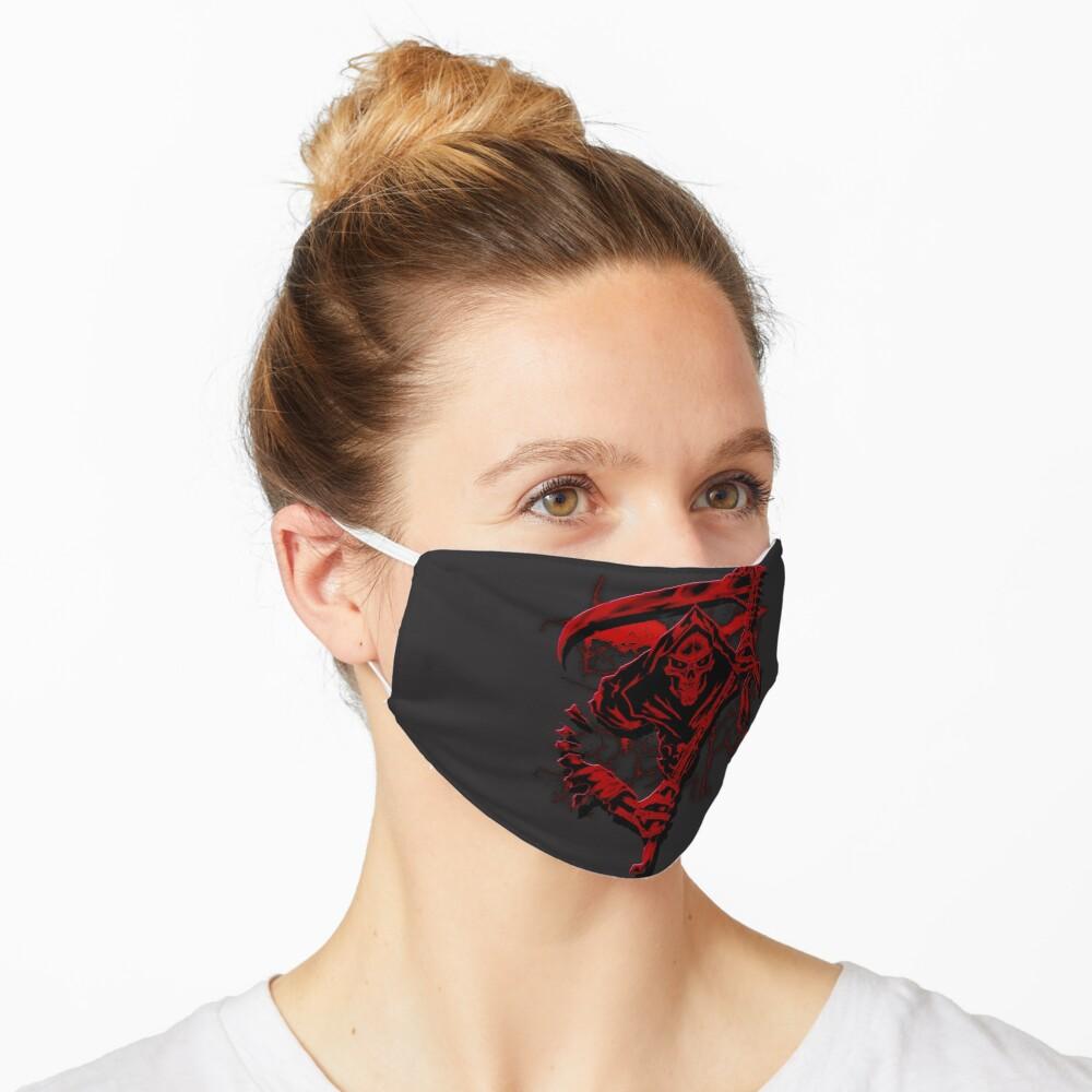 Dark Red Grim Reaper Mask Mask