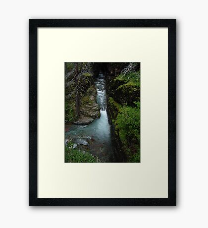 AVALANCHE CREEK, GLACIER NATIONAL PARK Framed Print