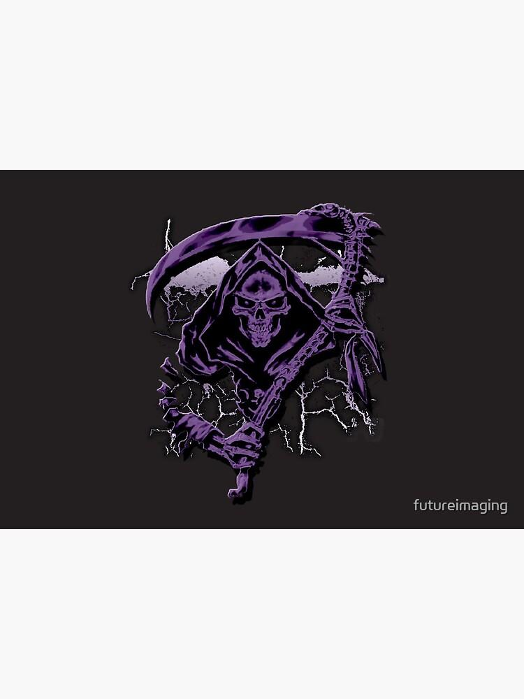 Dark Purple Grim Reaper Mask by futureimaging
