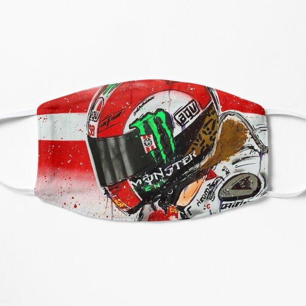 Marco Simoncelli MotoGP graffiti painting by DRAutoArt Flat Mask