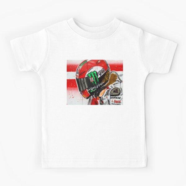 Marco Simoncelli MotoGP graffiti painting by DRAutoArt Kids T-Shirt