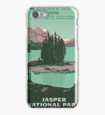 Jasper National Park poster iPhone Case/Skin