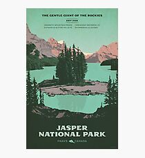 Jasper National Park poster Photographic Print