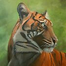 Sumatran Tiger almost finished by Carole Russell